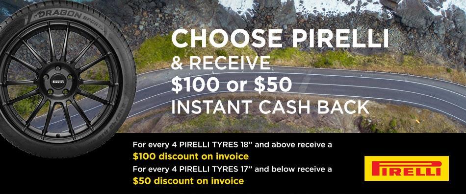 Pirelli Cash Back promotion