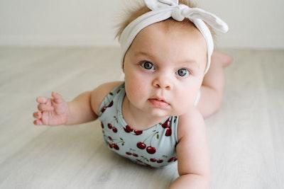 Commando Baby - Cherries Aqua