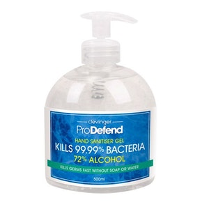 Boutique Medical 500ml Hand Sanitiser Gel Anti-Becterial 72% Alcohol Kills 99.99% Bacteria Germs