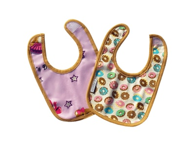 Japoodah Reversible waterproof dribble bib Donuts and Ballet