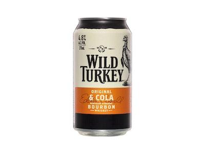 Wild Turkey Original & Cola Can 375mL