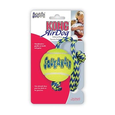 KONG Air Squeaker Ball With Rope Medium