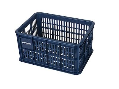 Basil Bicycle Crate Small 25L Bluestone