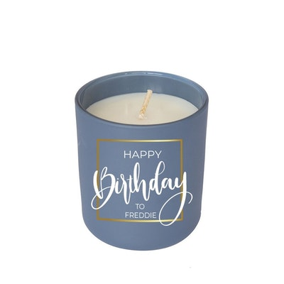 Symbolic Studio Birthday Navy Blue - Hand Poured Soy Candle