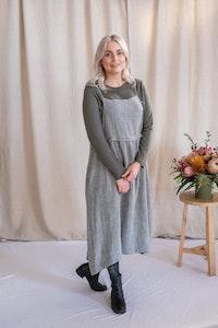 Harvest Dress - Grey Twill