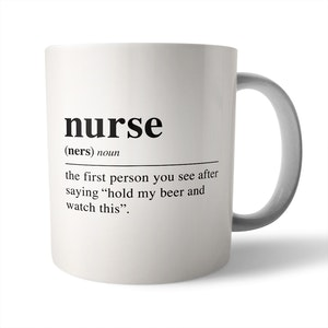 Dictionary Definition: Nurse - Ceramic Mug