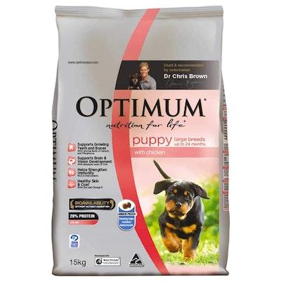 Optimum Large Breed Puppy Chicken Dry Dog Food 15kg