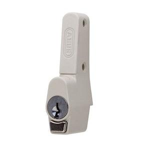 ABUS Sliding Window Push Lock for Sliding Aluminium Windows Vent Lock in White