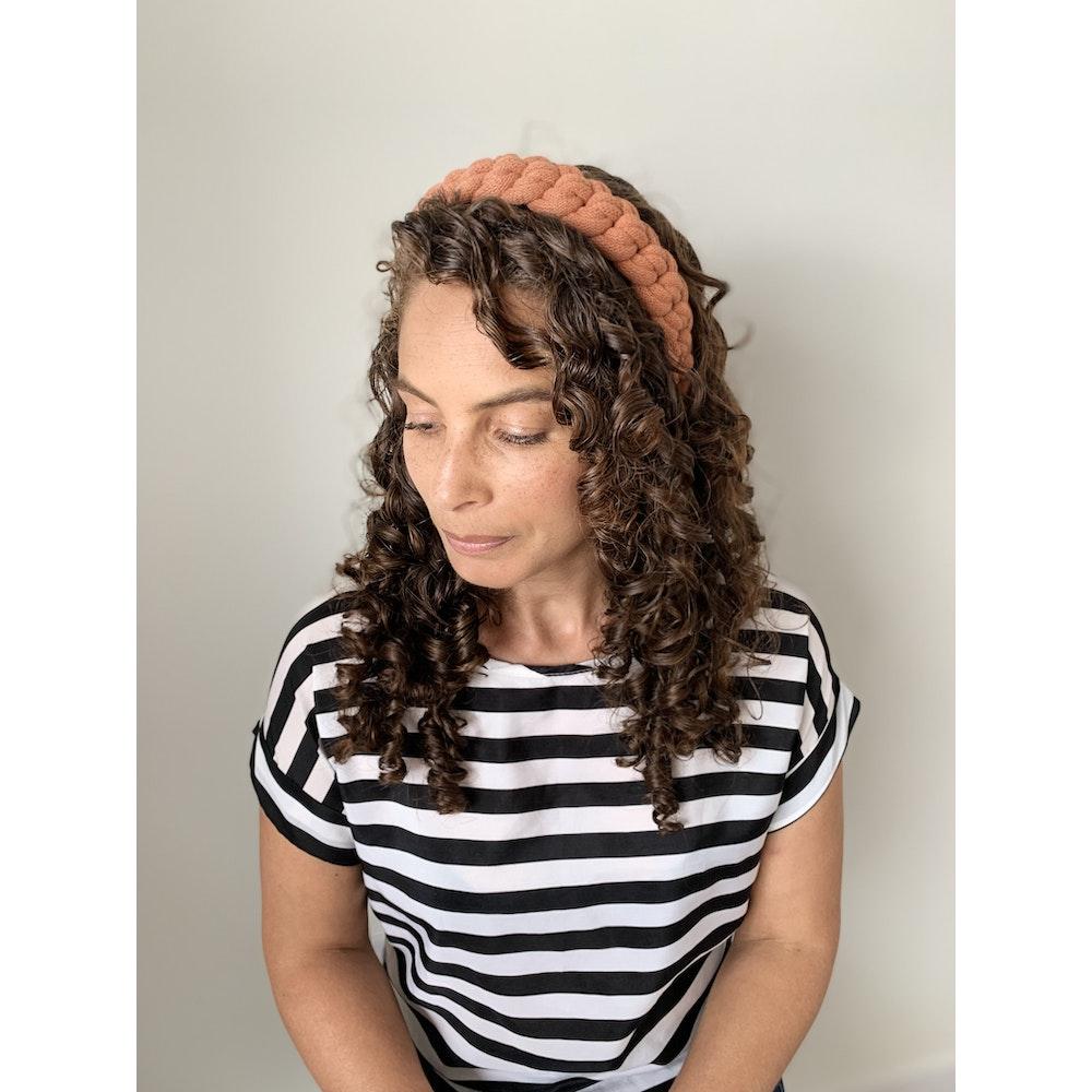 Form Norfolk Chunky Loop Knot Headband In Pumpkin Orange