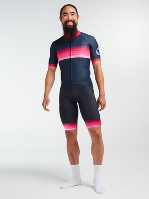 Black Sheep Cycling Men's Essentials TOUR Jersey - Navy Pink Stripe