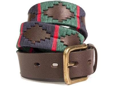 Pioneros Belt Navy, Dark Green, Red Stripe 196
