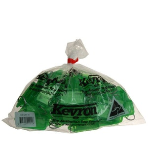 Kevron Clicktag key tags, green in a bag of 50