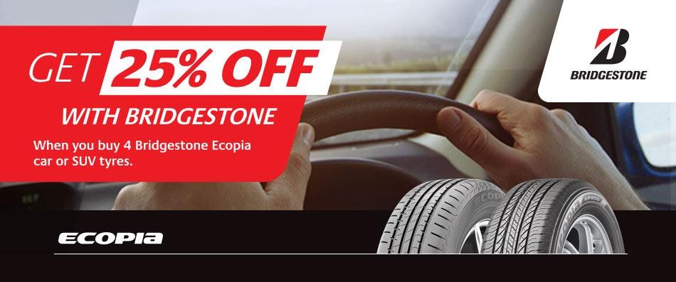 Bridgestone 25% OFF