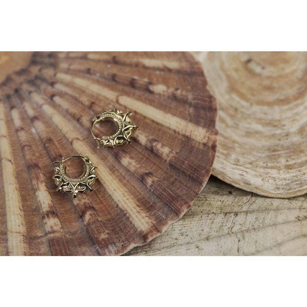 Jessica Alice Jewellery 9ct Solid Gold Kreol Hoops