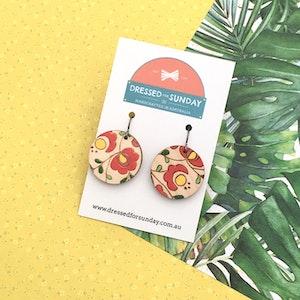 Mexi Folk Round Drop Earrings