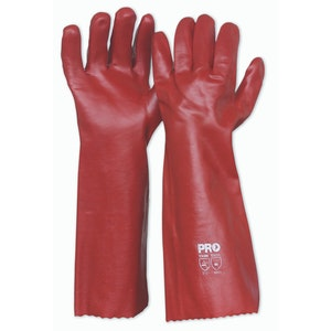 PVC Long Gloves - 45cm/Pk12