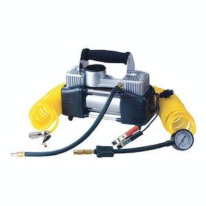 PK Tools 12v Dual Cylinder Air Compressor 55lpm 150 psi
