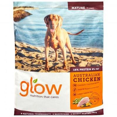 GLOW Mature 7+ Australian Chicken Dry Dog Food 10kg