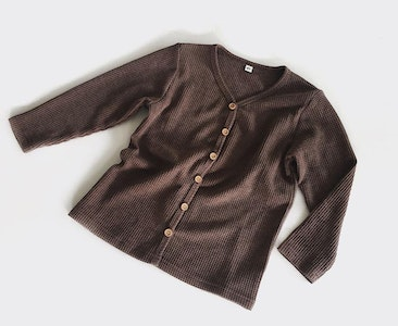 """Wildchase Waffle Cardigan - Long Sleeves by """"Oh Nine the Label"""""""
