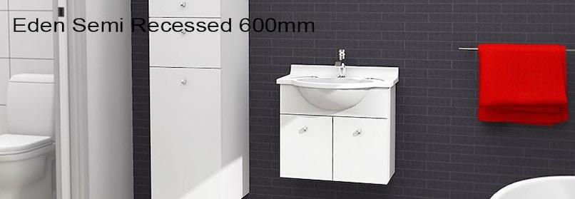 Timberline eden 600mm wall hung vanity pre built for Premade bathroom vanities