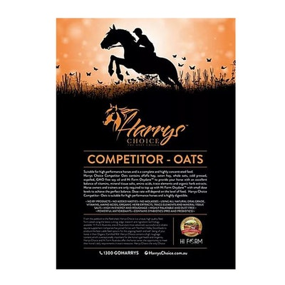 HARRYS CHOICE Competitor Oats Horses Performance Feed Supplement 18kg