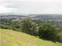 From Mt Eden - Auckland  looking towards Rangitoto Island