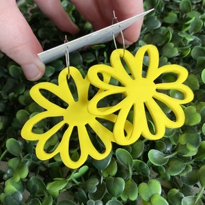 Sunshine Yellow - Happy Daisy Hoops - You can't help that Smile :) wearing these Fabulous Earrings.