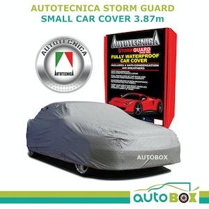 Autotecnica Small 3.87M Car Cover Sedan Stormguard Waterproof Fleece w/ Bag