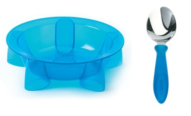 Steadyco Lets Eat Bowl & Spoon Blue