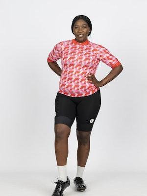 Fondo Women's Short Sleeve Cycling Jersey l Bubblegum
