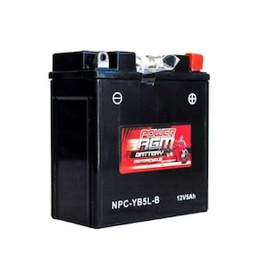 Power AGM 12V 5AH 120CCAs Motorcycle Battery