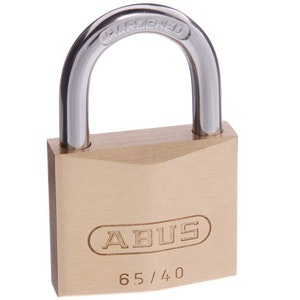 ABUS Brass Padlock 65/40 Keyed to Differ