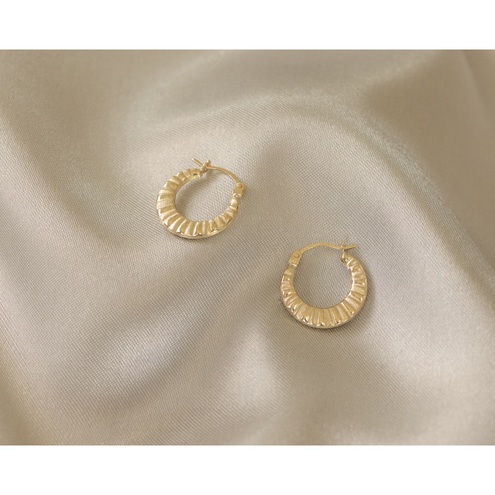 Jessica Alice Jewellery 9ct Solid Gold Lucky Horseshoe Hoops