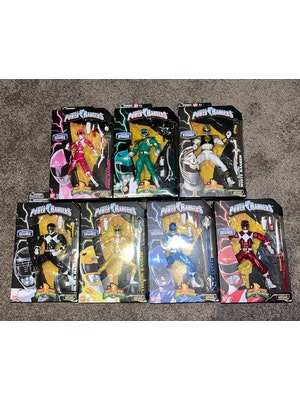Legacy Metallic Power Rangers Set