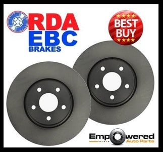 FRONT DISC BRAKE ROTORS For Peugeot 407 2.0TD Coupe 2008 onwards RDA7465 PAIR