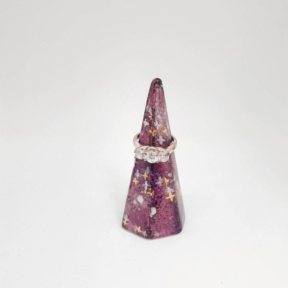 Lauren Michelle Designs  Galaxy Ring Holder (pink/purple)