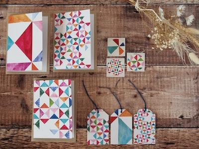 Greeting card set - Multi prints
