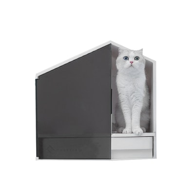 Furrytail XL Semi-Closed Glow House Cat Litter Box with Scoop