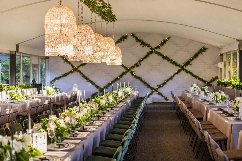 Greenery Marquee Wedding White White Weddings