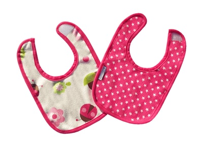 Japoodah Reversible waterproof dribble bib Stars and Ladybugs
