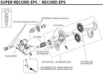 Campagnolo Complete Right Rear Derailleur RElease Lever EC-SR004