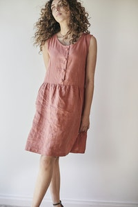 Gypsophila Dress Sleeveless - Red Clay