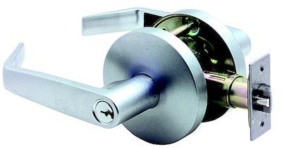 Carbine PD7000 Entrance lever set 60mm back set in satin chrome plate finish