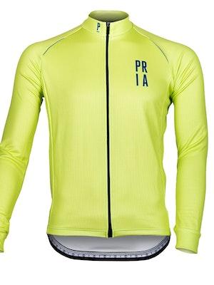 Paria Hi Viz Long Sleeve Thermo Cycling Jersey