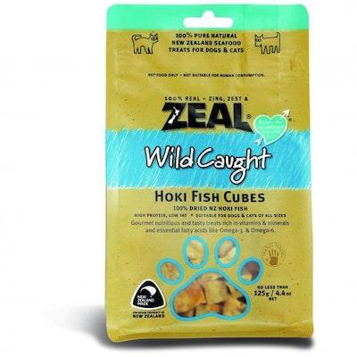 ZEAL FRN Zeal Free Range Naturals Hoki Fish Cubes Dog Treats 125G
