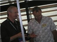 Chairman Clive Johnson considers Kid Steam at Top  Tourist Conference Darwin 2009 024