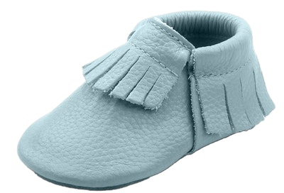 Wildchase Blue Frilled Moccasins