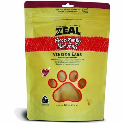 Zeal Free Range Naturals Venison Ears Dog Treats 125G