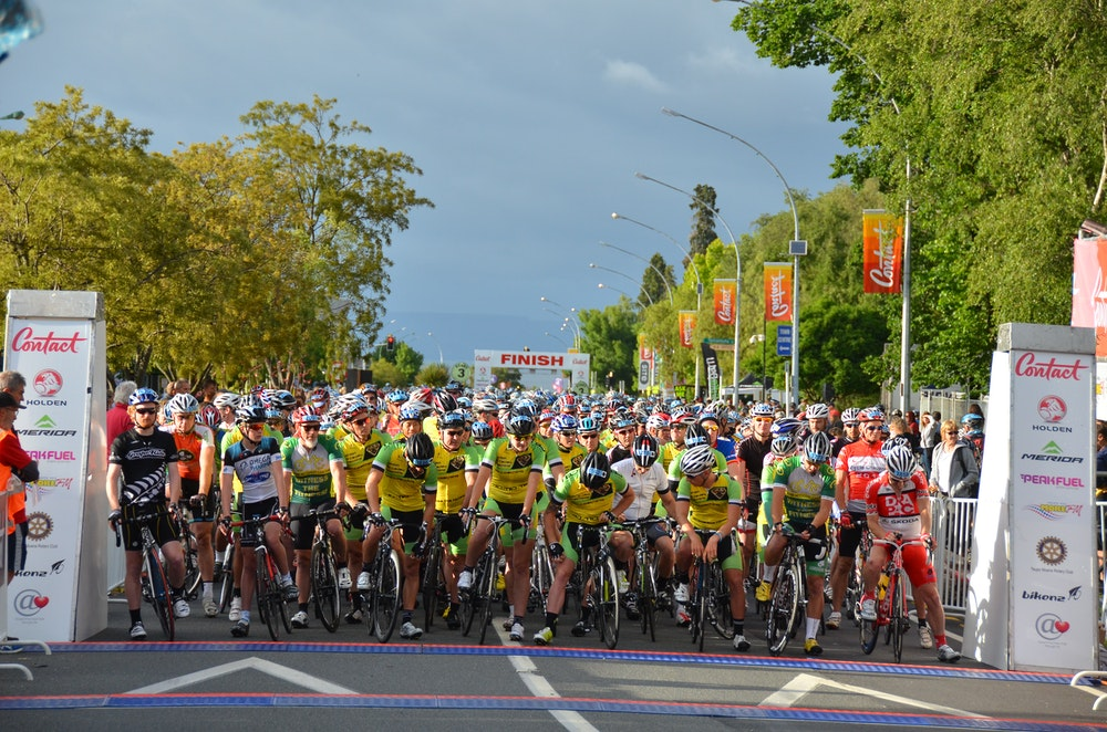 Lake Taupo Cycle Challenge finish line