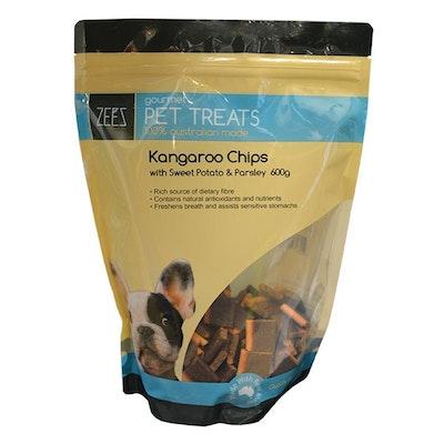 Zeez Gourmet Pet Treats Kangaroo Chips w/ Sweet Potato & Parsley 600g
